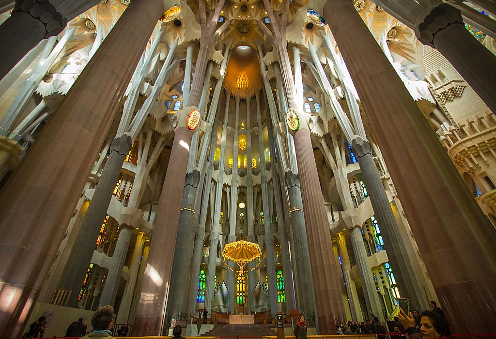 Gaudi's Church in Barcelona, Spain