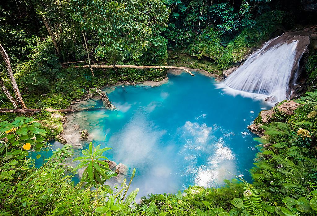 Ocho Rios Waterfall in Jamaica