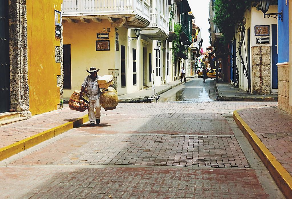Cartagena, Colombia, graziose case colorate