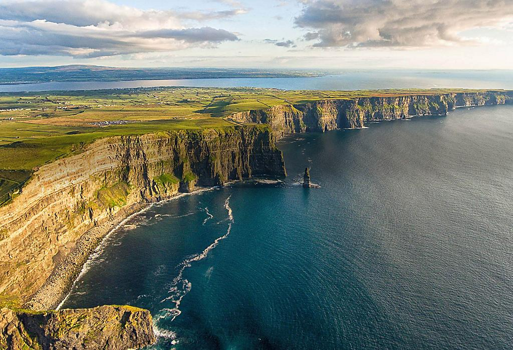 Scenic View of County Clare Cliffs