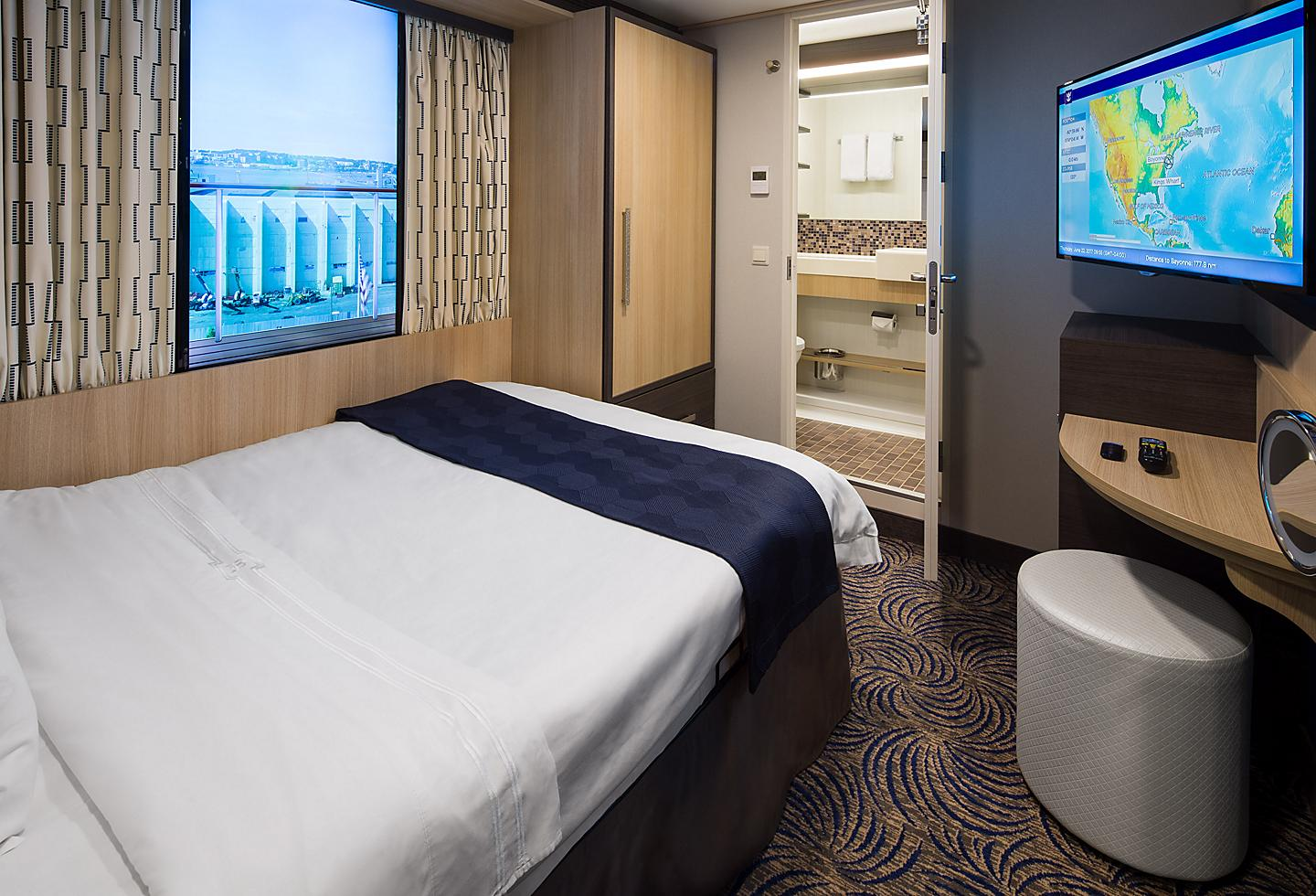 Studio Stateroom with a Virtual Window to the Ocean