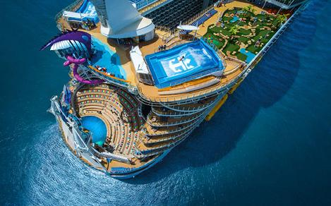 Symphony of the Seas Aerial View