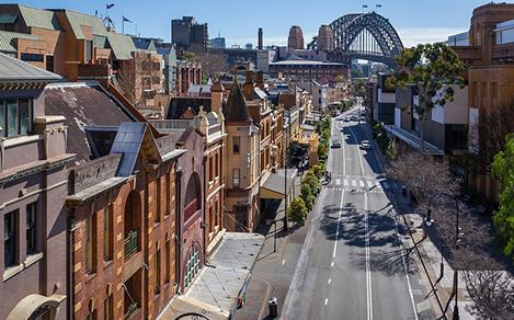 Sydney Harbour Bridge and Road