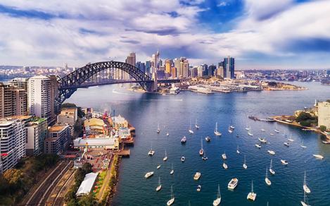 Sydney Harbour Bridge River Boats City Landscape