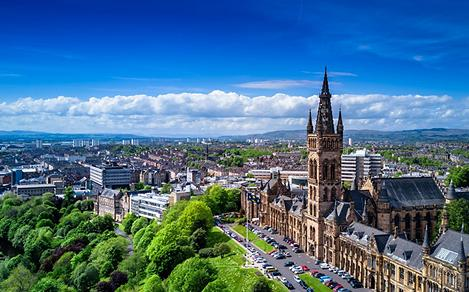 Cityscape in Glasgow, Scotland