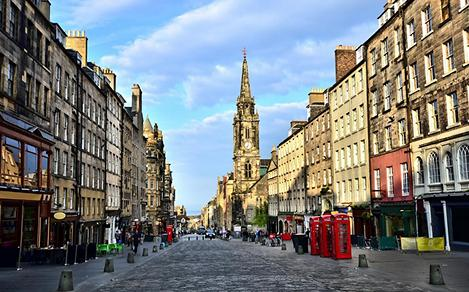 Historic Royal Mile in Edinburgh, Scotland