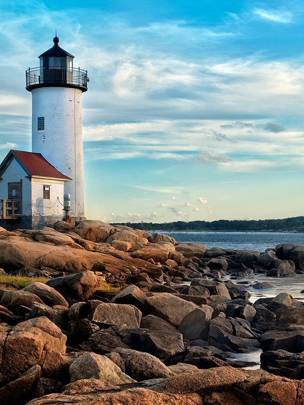 Lighthouse in New England Canada