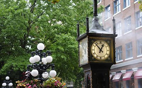 Powered Steam Clock in Vancouver