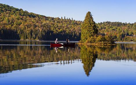 Kayaking in La Mauricie National Park in Canada