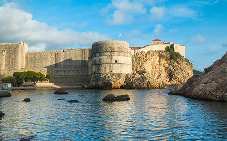 Bokar Fortress Defense Walls in Dubrovnik, Croatia
