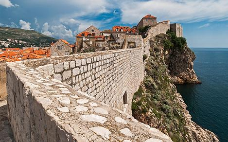 Seaside Walls in Dubrovnik, Croatia