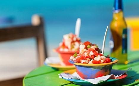 Caribbean Conch Salad with Sweet Dressing