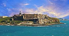 Seaside Fort in the Caribbean