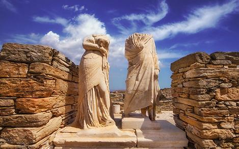 Ancient Greece Ruins Delos Apollo and Artemis