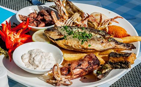 Greek Fresh Seafood Platter