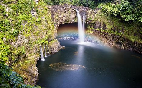 Hawaii Forest Waterfall