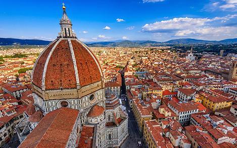 Santa Maria del Fiore Gothic Church in Florence, Italy
