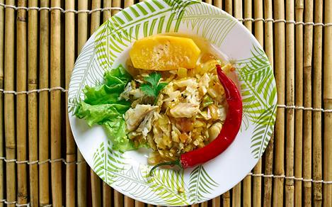 Traditional Dish Ackee and Saltfish from Jamaica