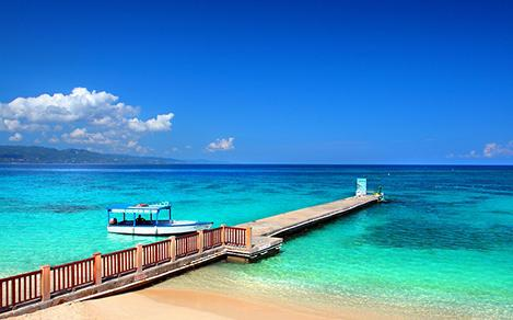 Doctors Cave Beach in Montego Bay, Jamaica