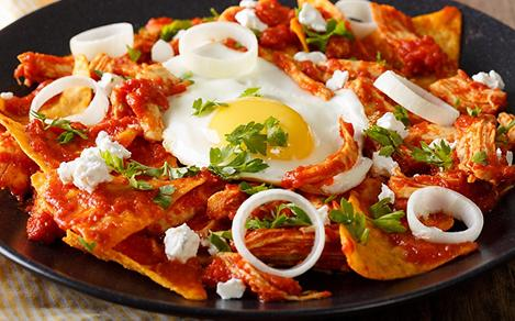 Chilaquiles, Traditional Mexican Breakfast