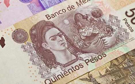 Mexican Pesos with Frida Kahlo