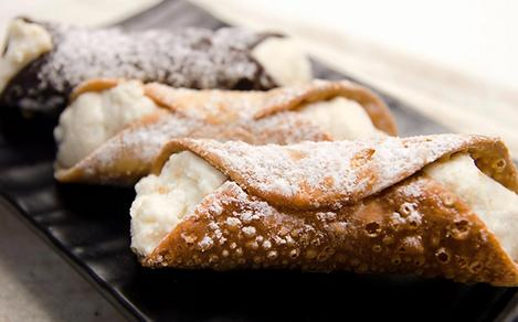 Traditional Italian Cannoli from a Boston Pastry