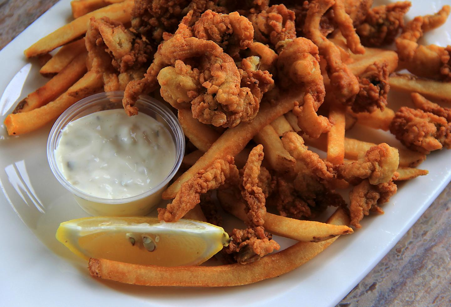 New England Fried Clams French Fries