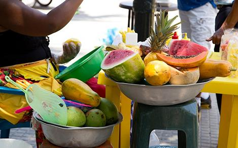 Fruit Stand in Cartagena Colombia