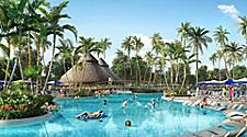 People enjoying Oasis Lagoon at Perfect Day at CocoCay