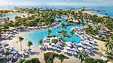 Aerial view of Oasis Lagoon at Perfect Day at CocoCay