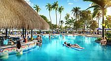 Oasis Lagoon's Swim-Up Bar at Royal Caribbean's Perfect Day at CocoCay