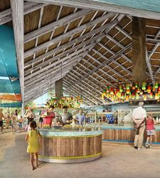 Interior view of Skipper's Grill at Royal Caribbean's Perfect Day at CocoCay