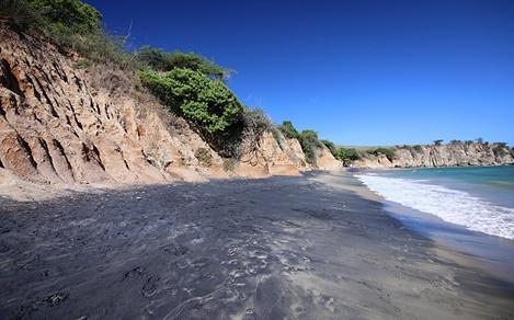 Black Sand Beach in Vieques, Puerto Rico