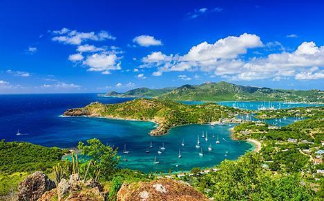 Aerial View of Caribbean Bay