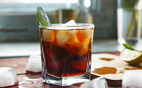 Rum Cocktail Offered in Caribbean Rum Distilleries