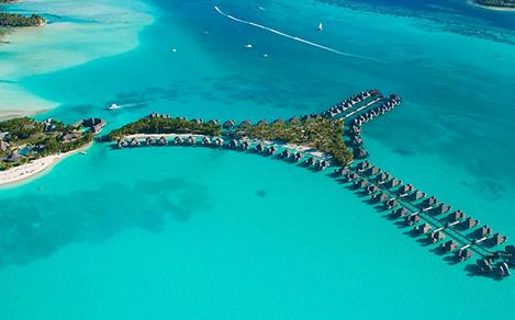 Water Bungalows in the South Pacific