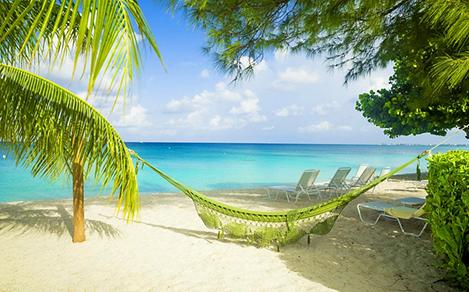 Hammock on Seven Mile Beach in Grand Cayman