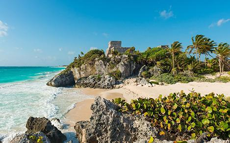 Mayan Ruins of Tulum Beach in Mexico