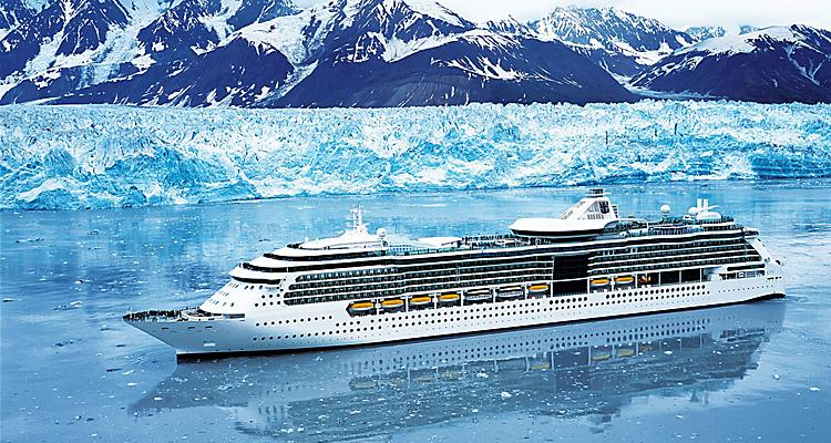 aerial,  ship, boat,  brilliance of the seas,  exterior,  Alaska,  Hubbard Glacier, radiance class, BR