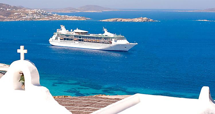 Destination,  Mykonos, Greece,Greek Islands, Mykonos is a popular tourist destination in the Greek islands of the Cyclades group, situated in the middle of the Aegean Sea, ship ,  Grandeur of the seas,Europe ,