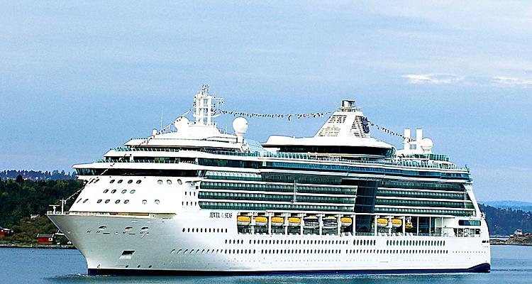 Exterior view of Jewel of the Seas Cruise With Destinations in Puerto Rico, Antigua, Barbados, and more