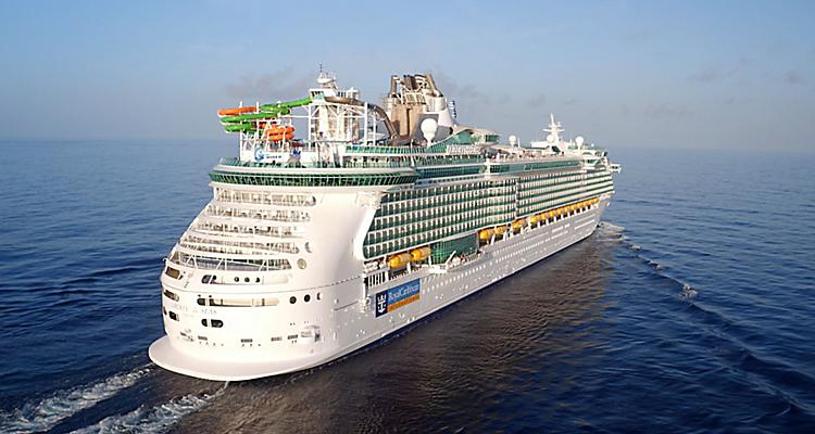 Aerial View of Liberty of the Seas Caribbean Cruise With Destinations in Jamaica and Mexico