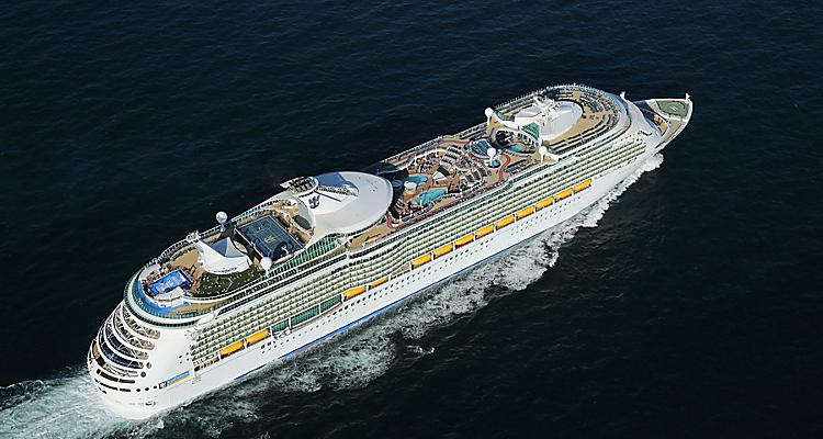 Navigator, NV, Navigator of the Seas, aerial, at sea, top side view