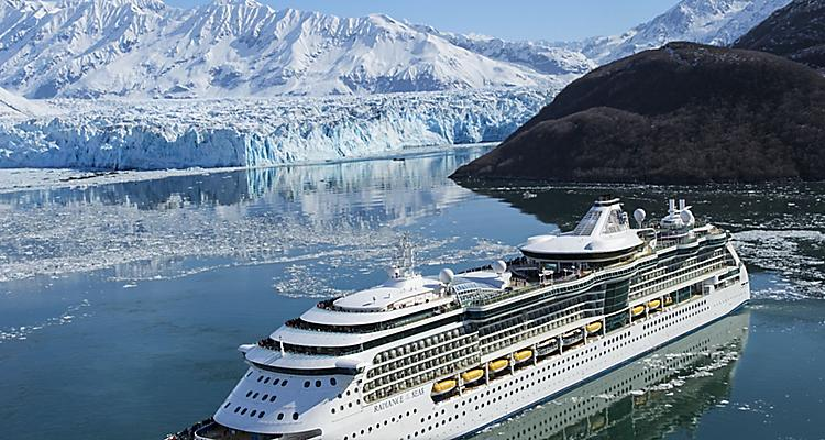 Aerial View of Radiance of the Seas Cruise Visiting Alaska, Vancouver, New Zealand, Australia