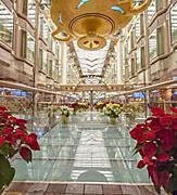 The Promenade Holiday Decorations on December Cruise