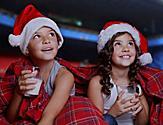 Kids on Pijamas During the Pijama Party and Movie Night