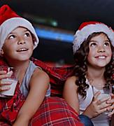 Kids on Pijamas During the Pijama Party and Movie Night