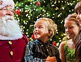 Kids with Santa Claus during December Cruise