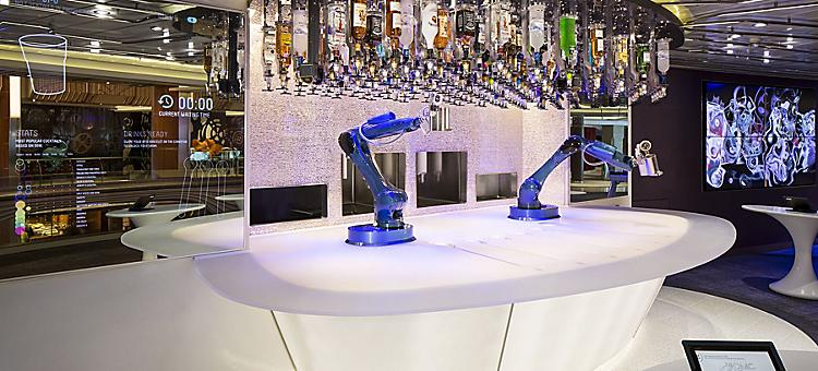 AN, Anthem of the Seas, public rooms, Bionic Bar, robot, robotic, technology, serving drinks,