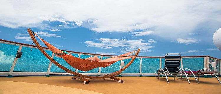 Pool Deck Hammock Onboard Empress of the Seas